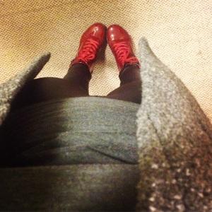 Burgandy boots :)